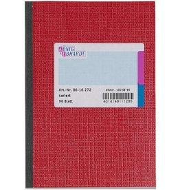 K&E Geschäftsbuch, Glanzkarton, kariert, A6, Einband: rot, 96Bl.