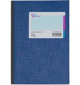 K&E Geschäftsbuch, Glanzkarton, liniert, A5, Einband: blau, 96Bl.