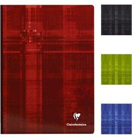 Clairefontaine Geschäftsbuch, kar., A4, 90g/m², schneewe, Einband: sort., 96Bl.