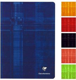 Clairefontaine Geschäftsbuch, kar., A5, 90g/m², schneewe, Einband: sort., 48Bl.