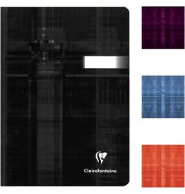 Clairefontaine Geschäftsbuch, kar., A5, 90g/m², schneewe, Einband: sort., 96Bl.