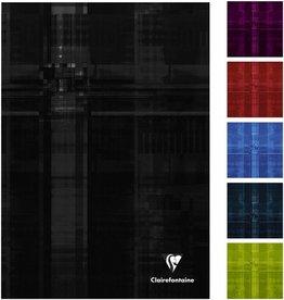 Clairefontaine Geschäftsbuch, lin., A5, 90g/m², schneewe, Einband: sort., 96Bl.