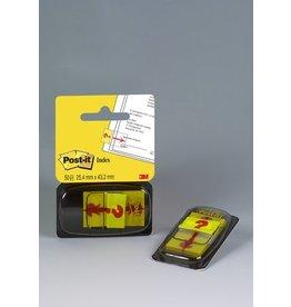 Post-it Haftmarker 680, mit Symbol, Fragezeichen, 25,4 x 43,2 mm, gelb