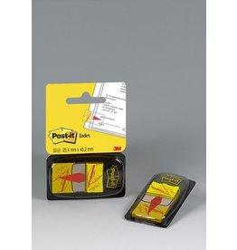 Post-it Haftmarker 680, mit Symbol, Unterschrift, 25,4 x 43,2 mm, gelb