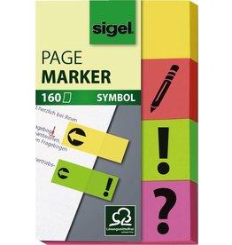 sigel Haftmarker SYMBOL, 50 x 20 mm, 4farbig sortiert, 4 x 40 Blatt