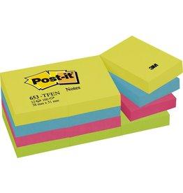Post-it Haftnotiz Active, 51 x 38 mm, 4farbig sortiert, 100 Blatt