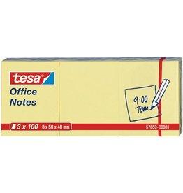 tesa Haftnotiz Office Notes, 50x40mm, gelb, 100Bl. [4st]