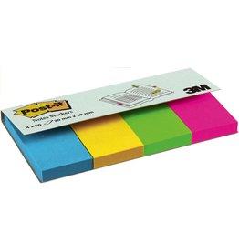 Post-it Haftnotiz Page Marker, ultra, 20x38mm, blau/gelb/grün/pink, 50 Blatt