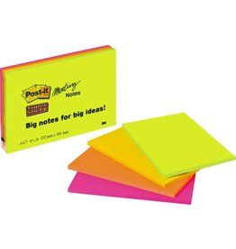 Post-it Haftnotiz Super Sticky Meeting Notes, 152x101mm, sortiert, 45 Blatt