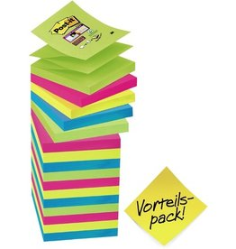Post-it Haftnotiz Super Sticky Z-Notes, 76 x 76 mm, 4farbig sortiert, 90 Blatt
