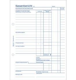 AVERY Zweckform Kassenbericht, A5h, 1f., weiß, Einband: blau, 50Bl.