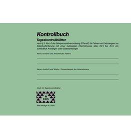 RNK Kontrollbuch, mit 30 Tageskontrollblätter, A5 quer, 32 Blatt [10st]
