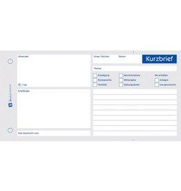 AVERY Zweckform Kurzbrief, 1/3 A4, 1fach, CF, Einband: blau, 100 Blatt
