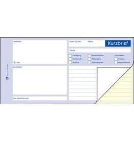 AVERY Zweckform Kurzbrief, 1/3 A4, 2fach, sd, Einband: blau, 2 x 40 Blatt