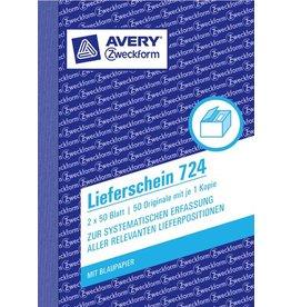 AVERY Zweckform Lieferschein, Kart., A6h, Blaupap., 1./2.Bl.bedr., 2x50Bl.