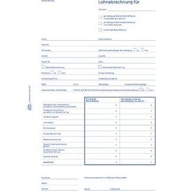 AVERY Zweckform Lohnabrechnung Mini-Job, A4, 1fach, Blaupapier, 50 Blatt