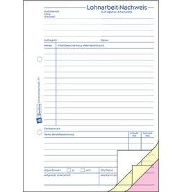 AVERY Zweckform Lohnarbeitsnachweis, A5h, 3f., sd, 1./2./3.Bl.bedr., 3x40Bl.
