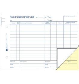 AVERY Zweckform Materialanforderung, A5q, 2f., Blaupap., 1./2.Bl.bedr., we/gb, 2x50Bl.
