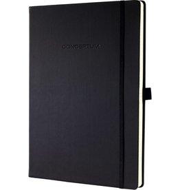 sigel Notizbuch CONCEPTUM®, Gummizugverschl., blanko, A4, Einband: schwarz