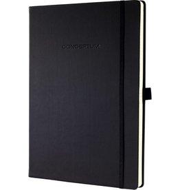 sigel Notizbuch CONCEPTUM®, Gummizugverschl., kariert, A4, Einband: schwarz