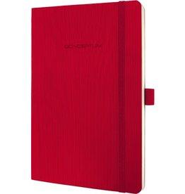 sigel Notizbuch CONCEPTUM®, kariert, 135 x 210 mm, chamois, Einband: rot