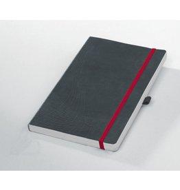AVERY Zweckform Notizbuch notizio, Kunststoff, kariert, A5, Einband: grau, 80 Blatt
