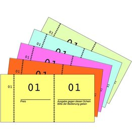 AVERY Zweckform Nummernblock, 1 - 1.000, 105 x 53 mm, 5farbig sortiert