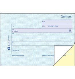AVERY Zweckform Quittung inkl. MwSt., A6q, 2f., sd, 1./2.Bl.bedr., 2x40Bl.