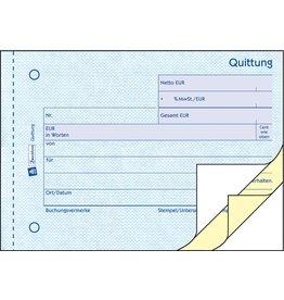 AVERY Zweckform Quittung mit MwSt.-Nachweis, Karton, A6q, Blaupapier, 3x50Bl.