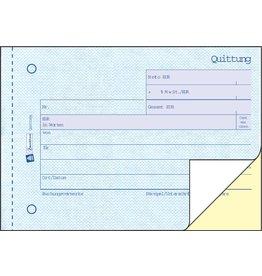 AVERY Zweckform Quittung mit MwSt.-Nachweis, Karton, A6q, sd, 2x40Bl.