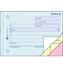 AVERY Zweckform Quittung mit MwSt.-Nachweis, Karton, A6q, sd, 3x40Bl.