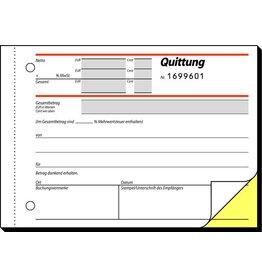 sigel Quittung mit MwSt.-Nachweis, mit Nummerierung, A6q, 2f., sd, 2x50Bl.
