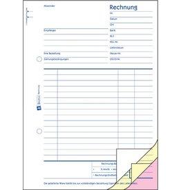 AVERY Zweckform Rechnung, Kart., A5h, sd, 1./2./3.Bl.bedr., Einband: blau, 3x40Bl.