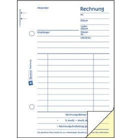 AVERY Zweckform Rechnung, Kart., A6h, Blaupap., Einband: blau, 2x50Bl.