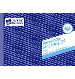 AVERY Zweckform Reisekostenabrechnung, wöchentlich, A5q, 1f., Einband: blau, 50Bl.
