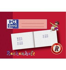 Oxford Schulheft, kariert 10 mm, A5, 90 g/m², Papier, Einband: rot, 16 Blatt
