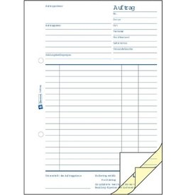 AVERY Zweckform Auftrag, Buch, A5h, 3f., Blaupap., 1./2.Bl.bedr., 3x50Bl.