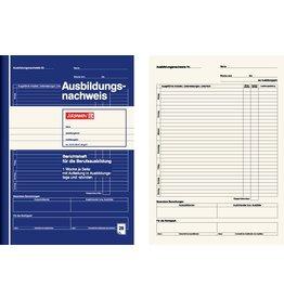 BRUNNEN Ausbildungsnachweis, Heft, A4, Einband: blau, 28 Blatt