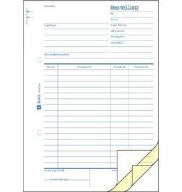 AVERY Zweckform Bestellung, A5h, 3f., Blaupap., 1./2.Bl.bedr., 3x50Bl.