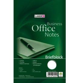 LANDRÉ Briefblock Office, blanko, A5, 70g/m², hf, 50 Blatt