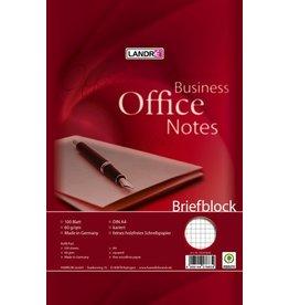 LANDRÉ Briefblock OFFICE, kariert, A4, 60 g/m², weiß, 100 Blatt [5st]