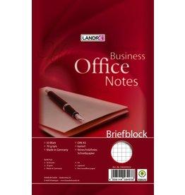 LANDRÉ Briefblock Office, kariert, A5, 70g/m², hf, 50 Blatt
