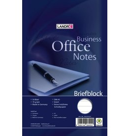 LANDRÉ Briefblock Office, liniert 9 mm, A5, 70g/m², hf, 50 Blatt