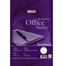 LANDRÉ Briefblock Office, rautiert, A4, 70g/m², hf, 50 Blatt