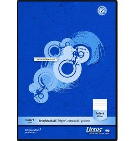 Ursus Briefblock, liniert 10 mm, A5, 70 g/m², weiß, 50 Blatt