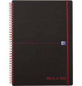Oxford Collegeblock Black n' Red, liniert, A4, hochweiß, 70 Blatt