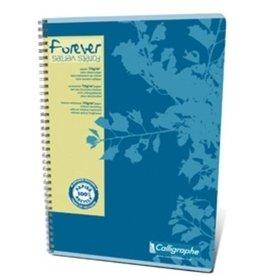 Calligraphe Collegeblock Forever®, blau, lin., A4, 70g/m², RC, weiß, 80Bl.
