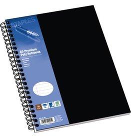STAPLES Collegeblock Poly, PP, liniert, A5, Einband: schwarz, 80 Blatt
