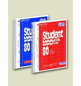 BRUNNEN Collegeblock Student, liniert 32 Linien, A4, weiß, 80 Blatt