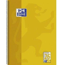 Oxford Collegeblock, kariert mit Rand, A4+, Einband: gelb, 80 Blatt